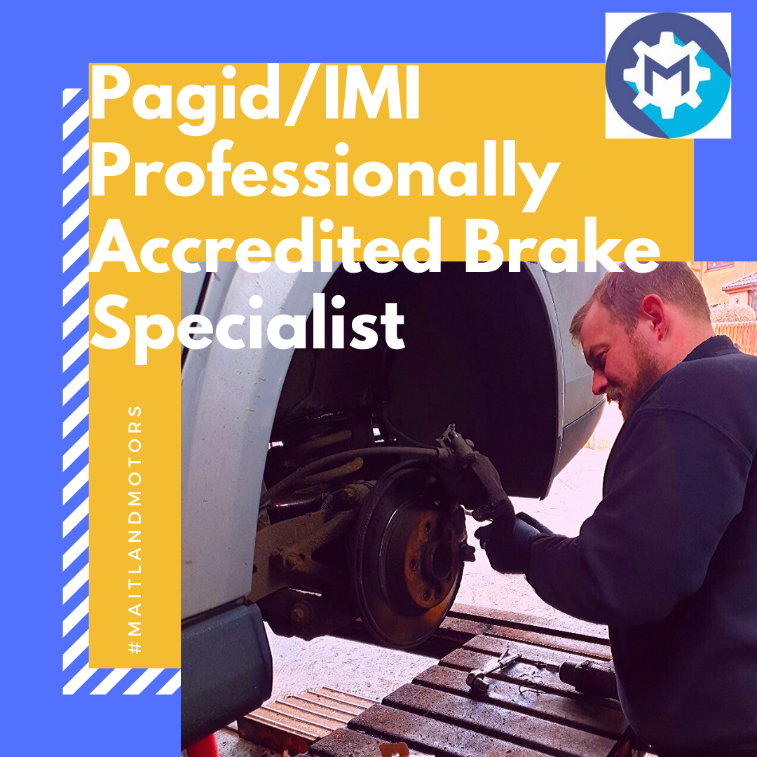 Another reason to use Maitland Motors; Proud to be a Pagid/ IMI Professionally Accredited Brake Specialists