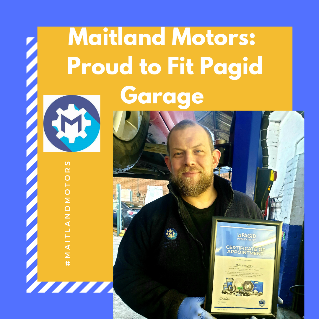 Maitland Motors: Proud to Fit Pagid Garage.