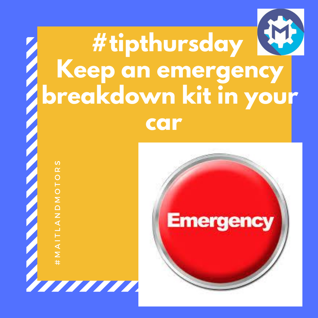 #tipthursday from Maitland Motors: Keep an emergency kit in your boot