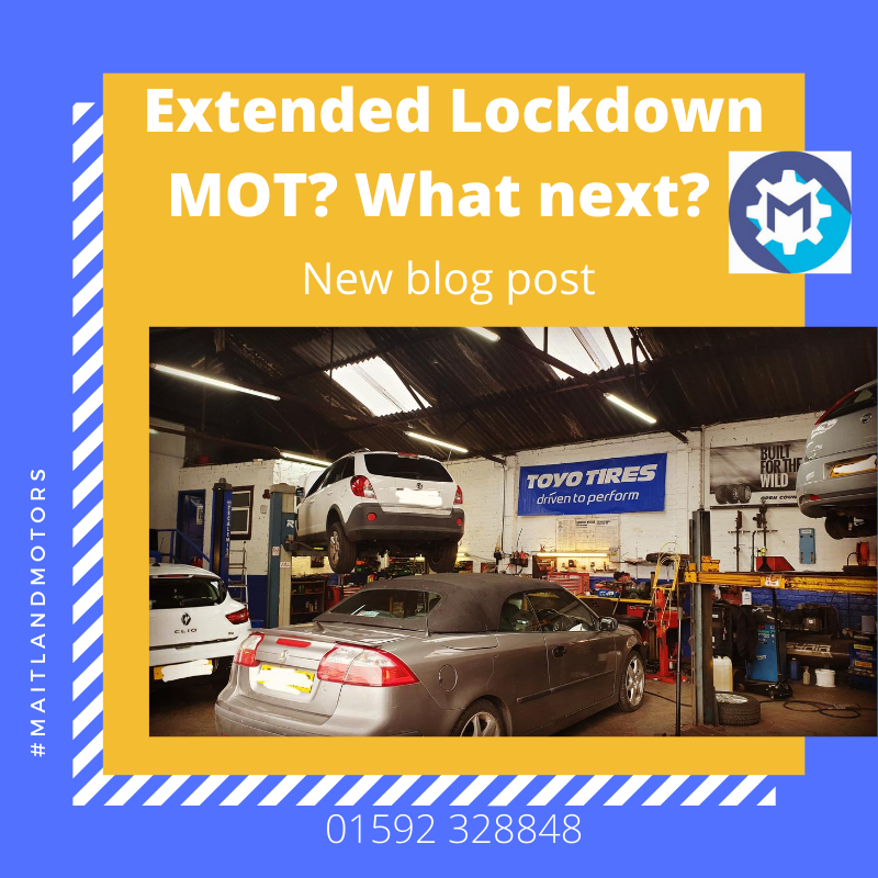 My MOT was due during the lockdown extension. What now?