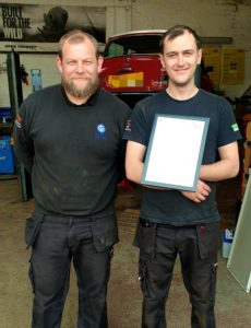 Ross and Dale. Dale having received his certificate for an Air Con course he passed a few months ago. Well done Dale!!
