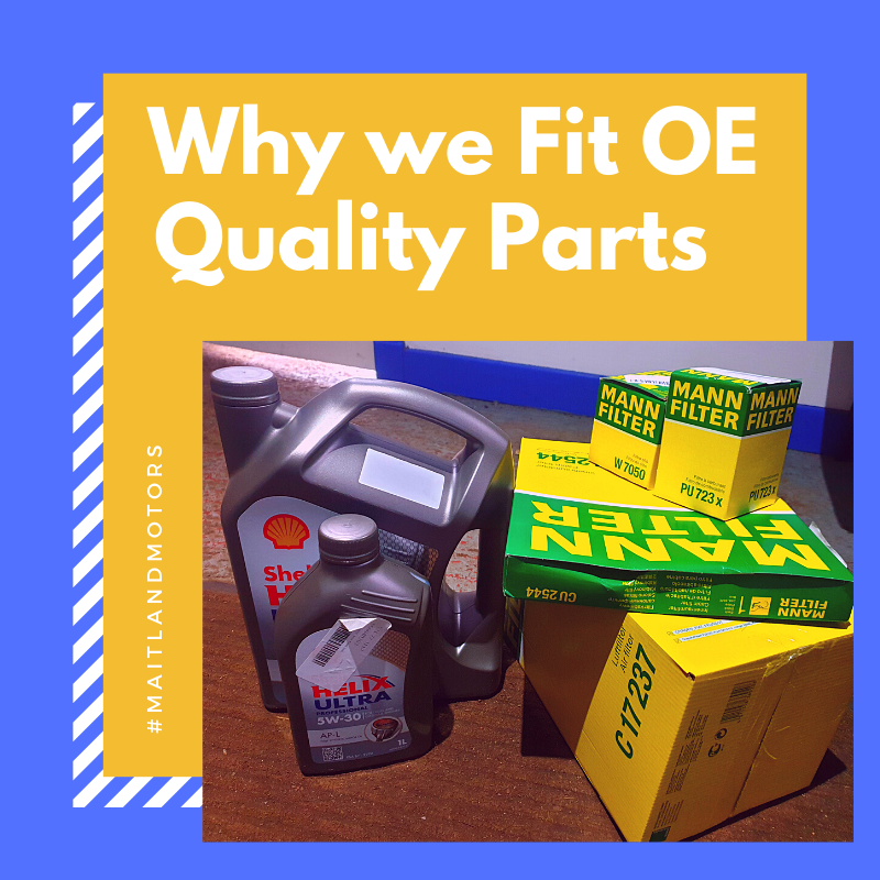 Why we always fit OE Quality parts
