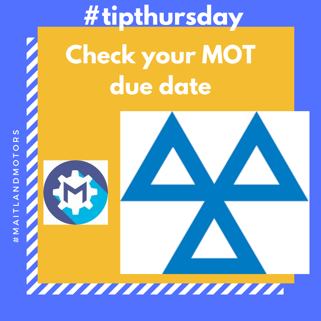 #tipthursday Check your MOT due date