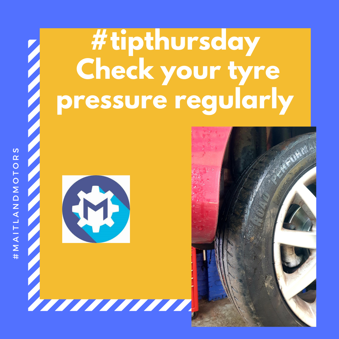 #tipthursday Check your tyre pressure regularly.
