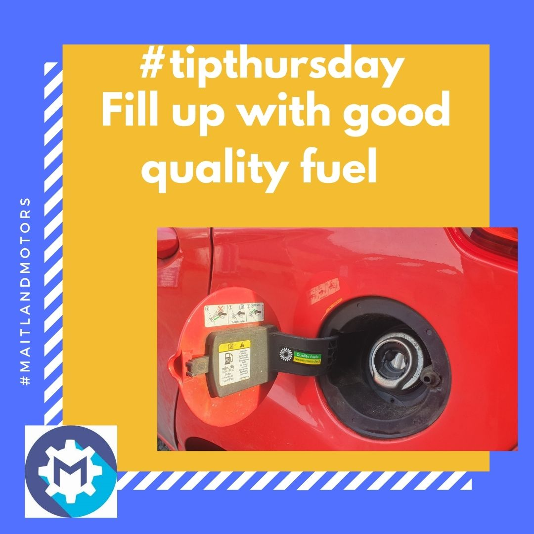 #tipthursday Fill up with good quality fuel