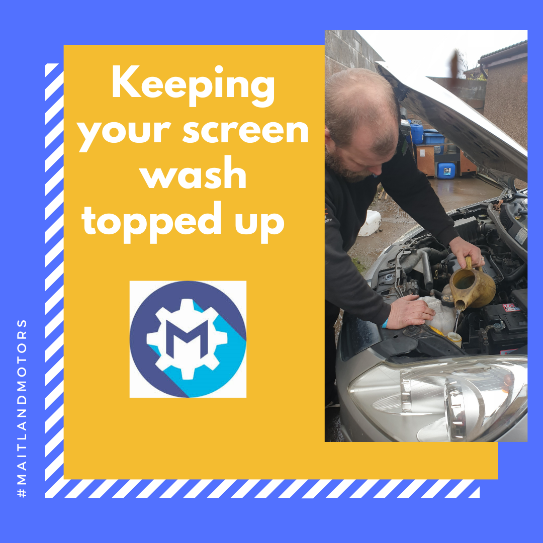 Why its important to keep your screen wash topped up