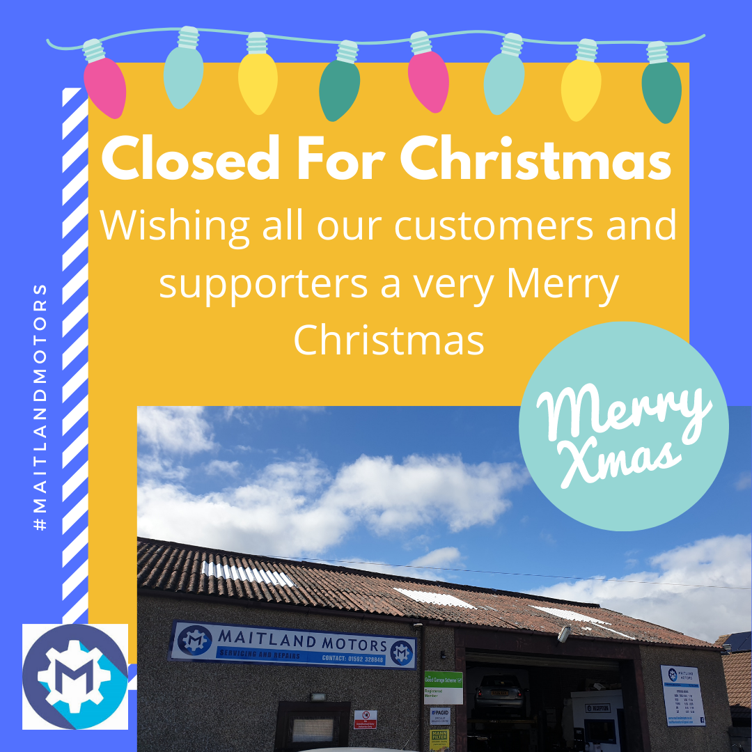 Maitland Motors: Closed for Christmas
