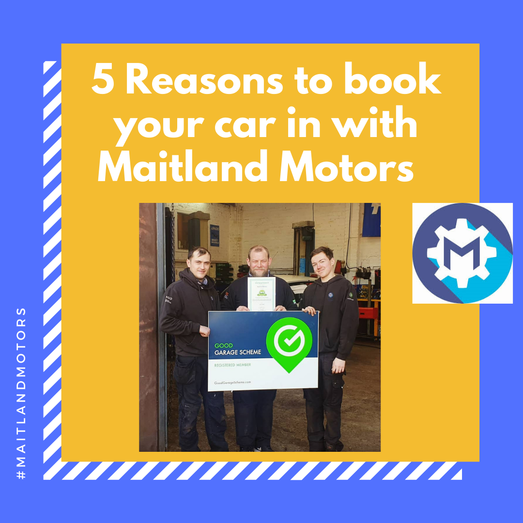 5 reasons to book your car into Maitland Motors
