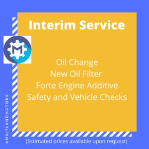 Interim Service from Maitland Motors