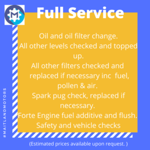 Full Service from Maitland Motors