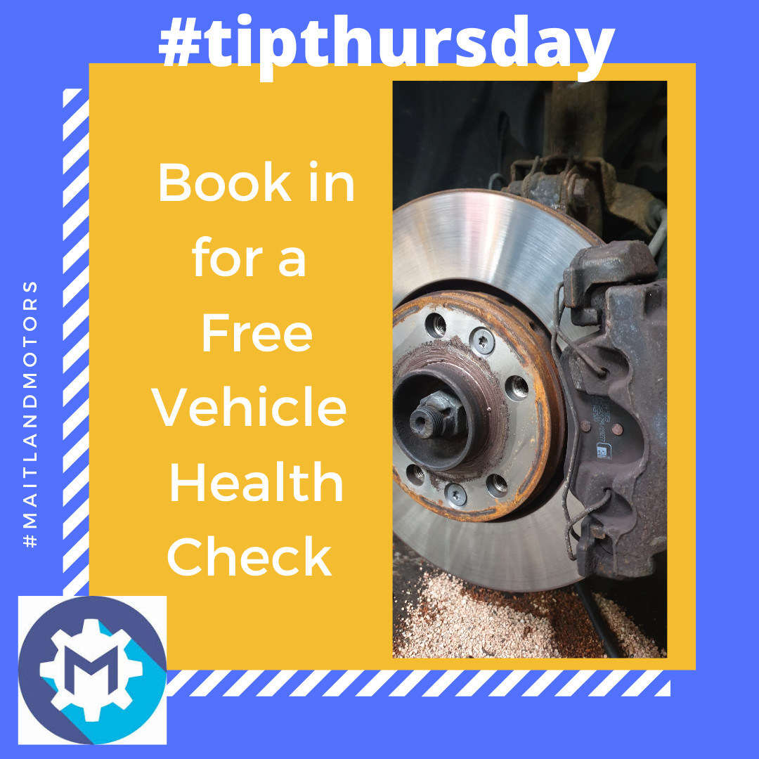 #tipthursday Book in for a Free Vehicle Health Check