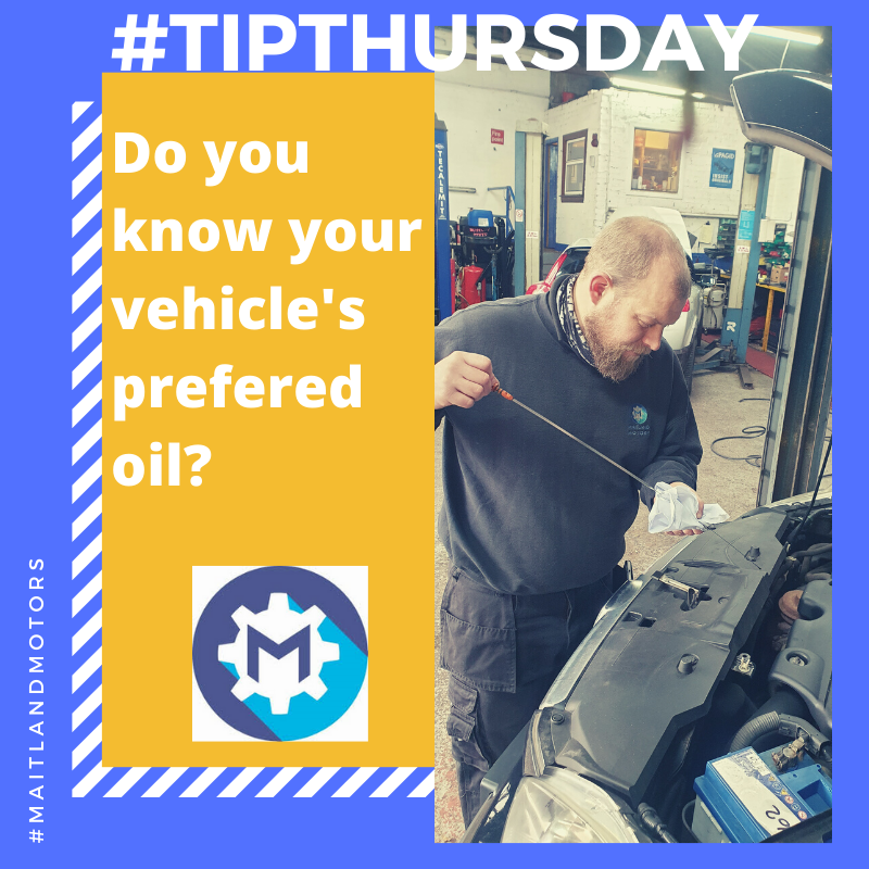 #TIPTHURSDAY Do you know your vehicle's prefered oil?